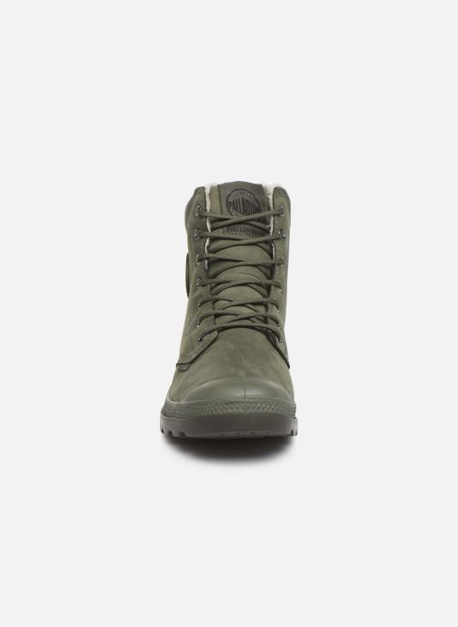 Bottines et boots Palladium Pampa Sport Wps Vert vue portées chaussures
