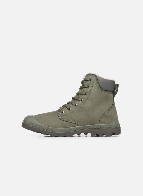 Bottines et boots Palladium Pampa Sport Wps Vert vue face
