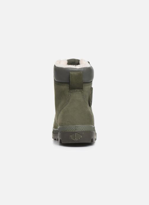 Ankle boots Palladium Pampa Sport Wps Green view from the right