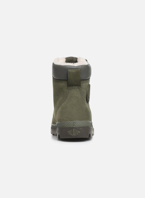 Bottines et boots Palladium Pampa Sport Wps Vert vue droite