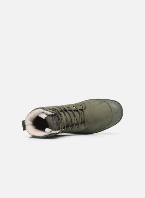 Bottines et boots Palladium Pampa Sport Wps Vert vue gauche