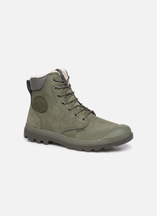 Bottines et boots Palladium Pampa Sport Wps Vert vue détail/paire