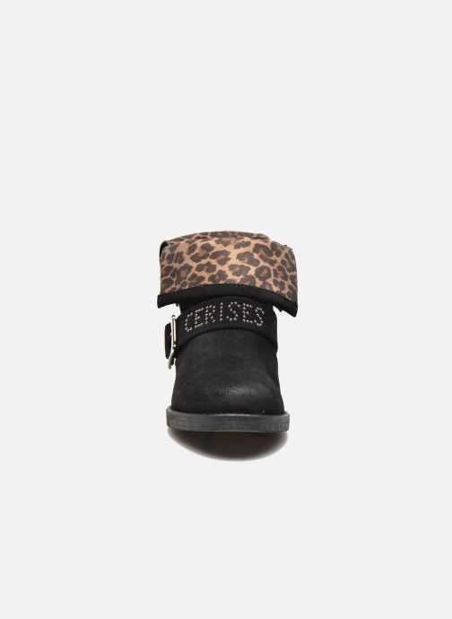 Bottines et boots Le temps des cerises Janis Noir vue portées chaussures