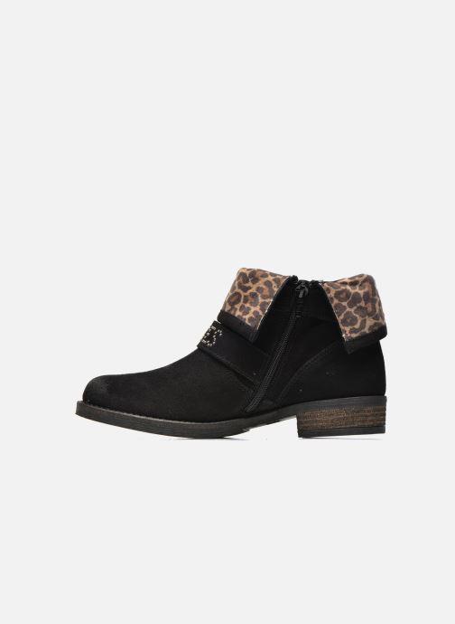Ankle boots Le temps des cerises Janis Black front view