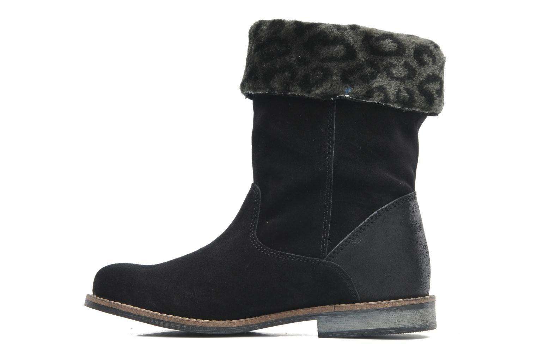 Bottines et boots Le temps des cerises Eva Fur Noir vue face