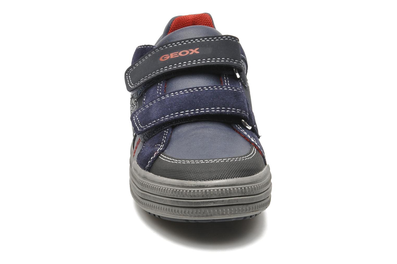 Baskets Geox JR ELVIS J Bleu vue portées chaussures