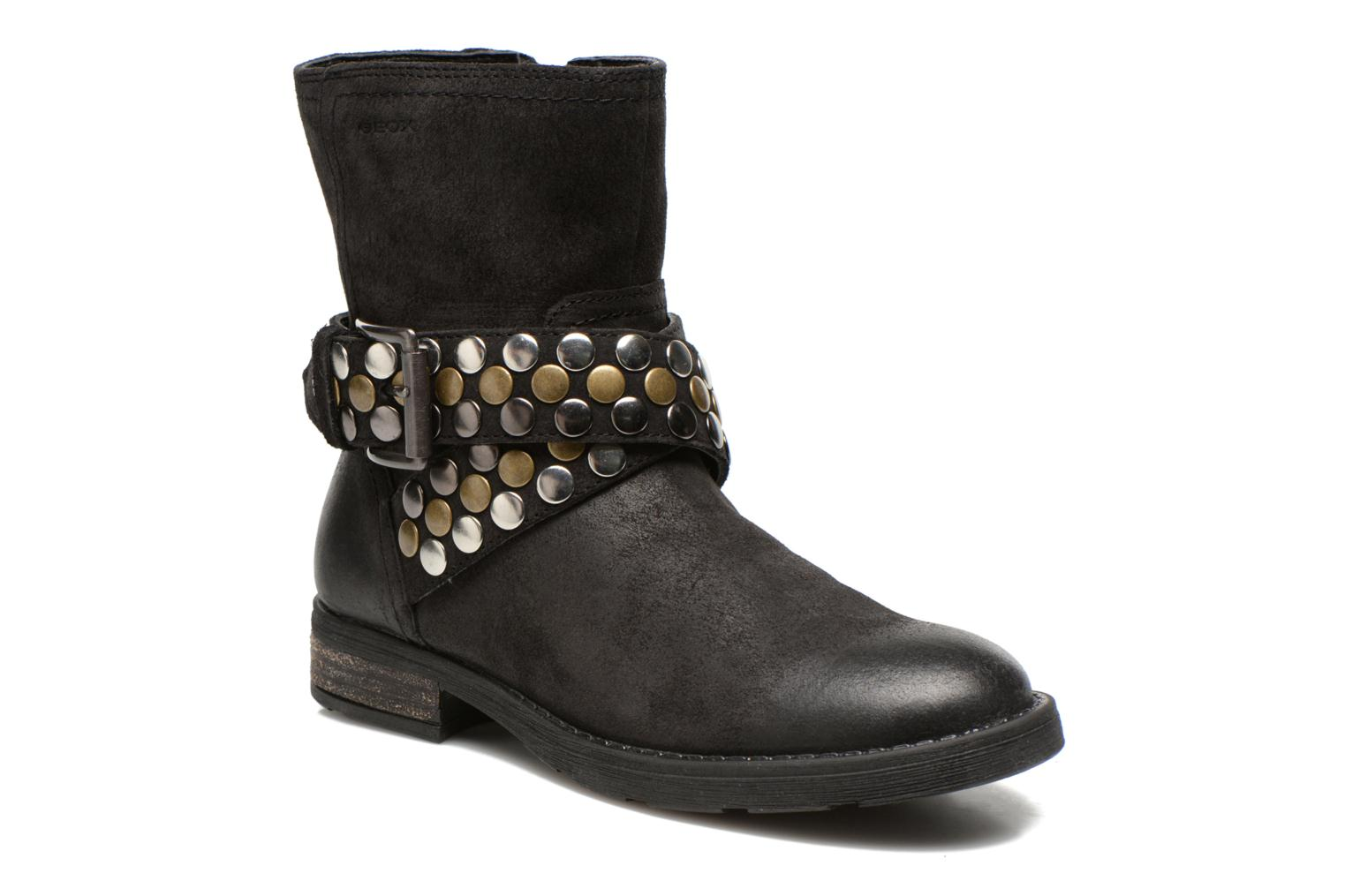 Ankle boots Geox JR SOFIA B Black detailed view/ Pair view