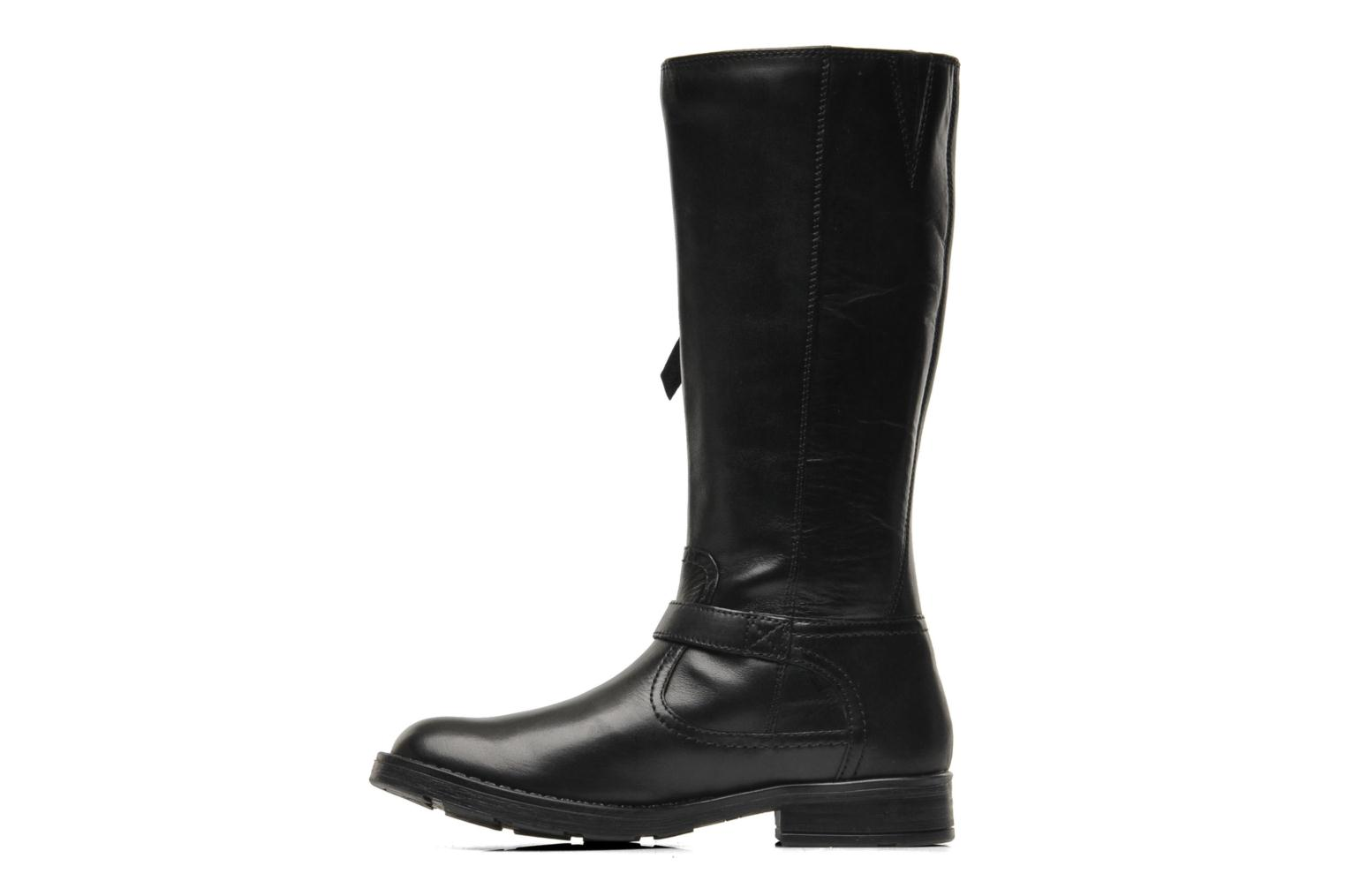 Boots & wellies Geox JR SOFIA D Black front view