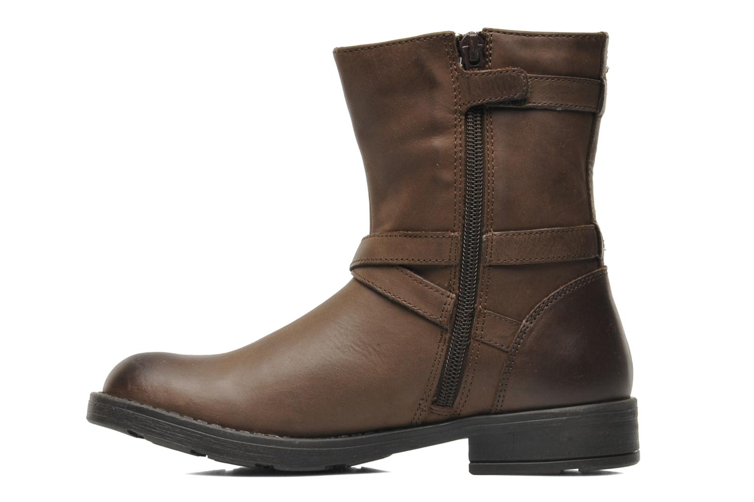 Ankle boots Geox JR SOFIA I Brown front view