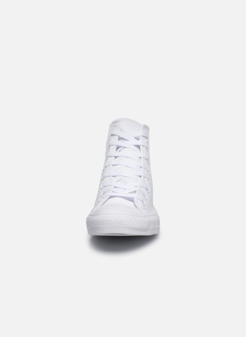 Baskets Converse Chuck Taylor All Star Mono Leather Hi W Blanc vue portées chaussures