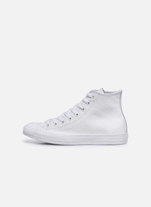 Sneaker Converse Chuck Taylor All Star Mono Leather Hi W weiß ansicht von vorne