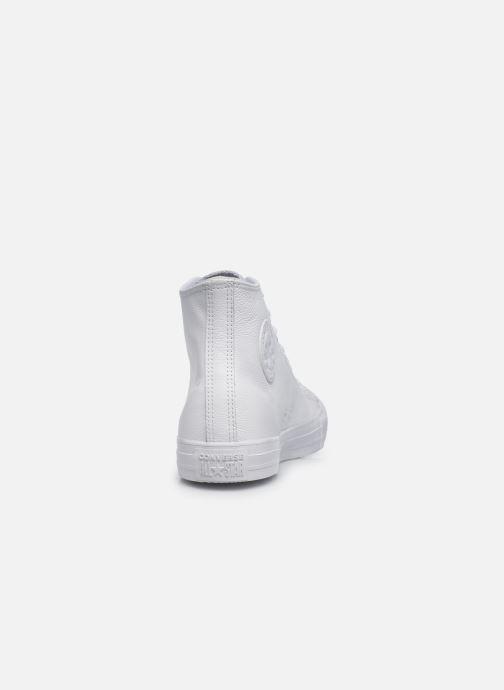 Sneaker Converse Chuck Taylor All Star Mono Leather Hi W weiß ansicht von rechts