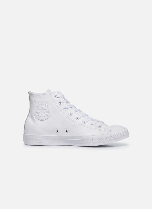 Sneaker Converse Chuck Taylor All Star Mono Leather Hi W weiß ansicht von hinten