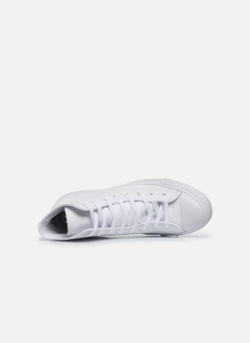 Sneaker Converse Chuck Taylor All Star Mono Leather Hi W weiß ansicht von links