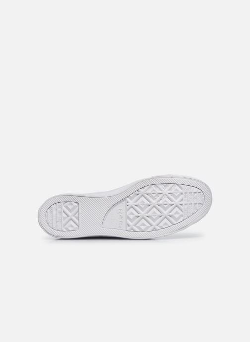 Sneaker Converse Chuck Taylor All Star Mono Leather Hi W weiß ansicht von oben
