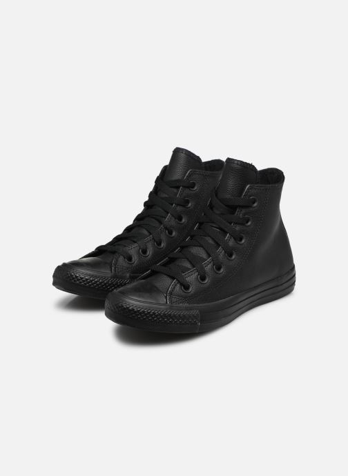 Baskets Converse Chuck Taylor All Star Mono Leather Hi W Noir vue bas / vue portée sac