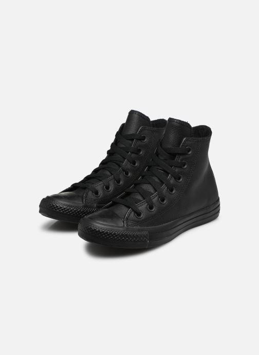 Sneaker Converse Chuck Taylor All Star Mono Leather Hi W schwarz ansicht von unten / tasche getragen