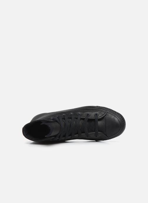 Sneaker Converse Chuck Taylor All Star Mono Leather Hi W schwarz ansicht von links