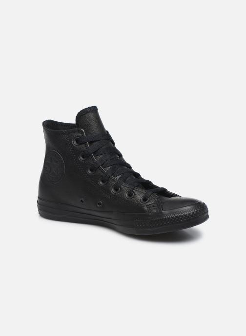 Sneakers Converse Chuck Taylor All Star Mono Leather Hi W Zwart detail