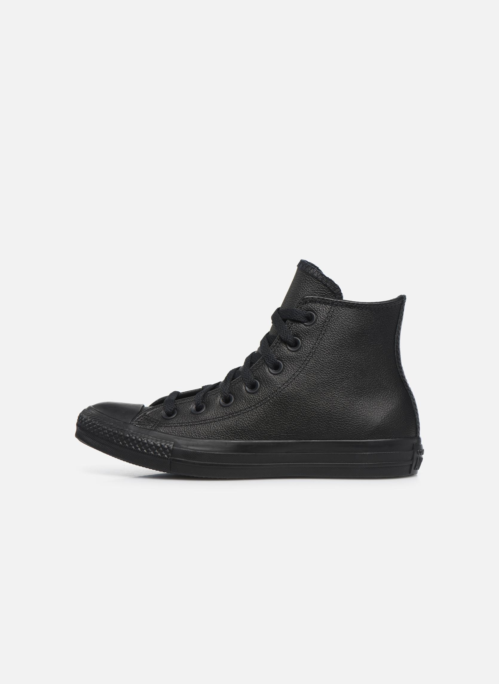 Sneaker Converse Chuck Taylor All Star Mono Leather Hi W schwarz ansicht von vorne
