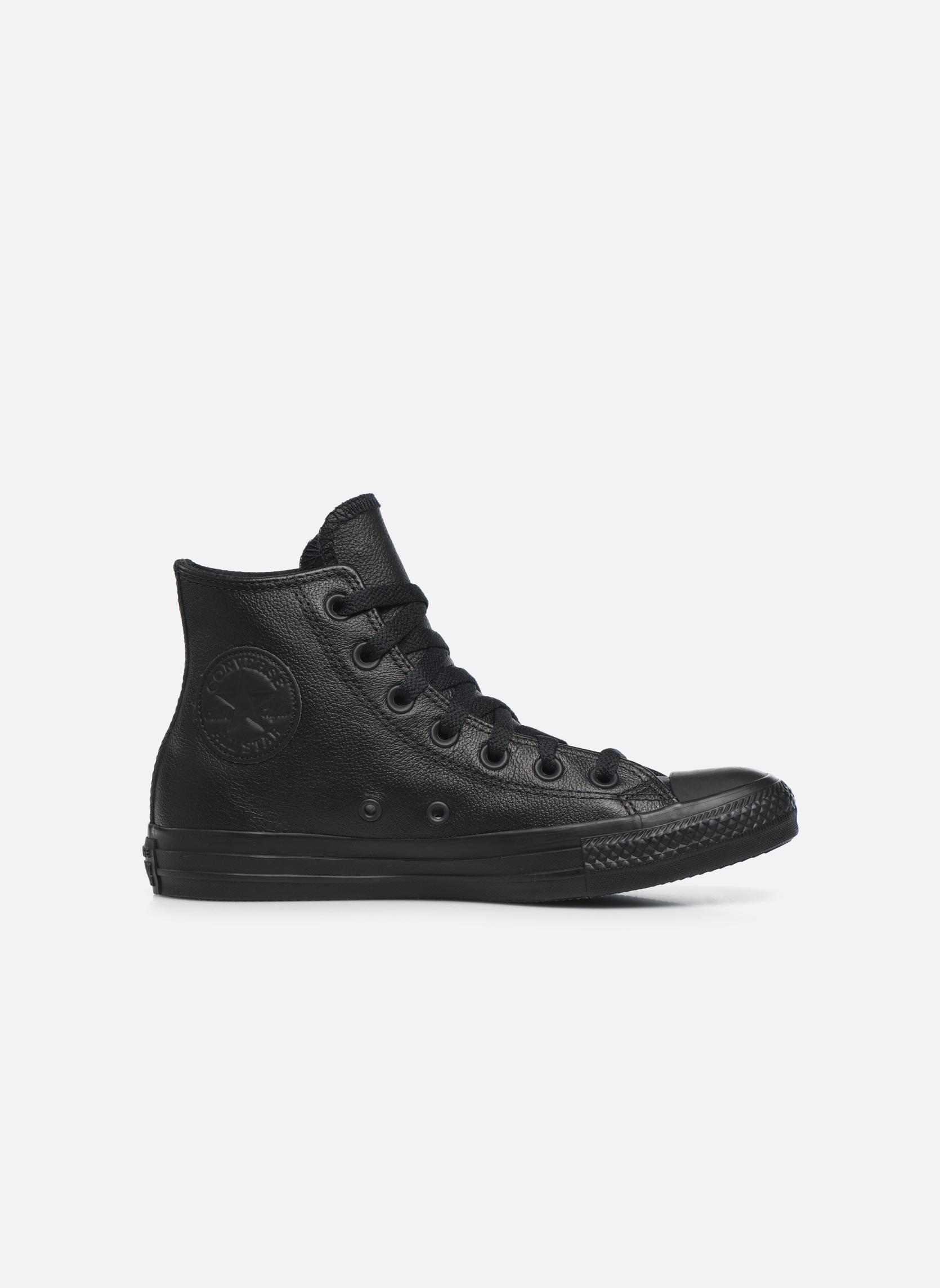 Sneaker Converse Chuck Taylor All Star Mono Leather Hi W schwarz ansicht von hinten
