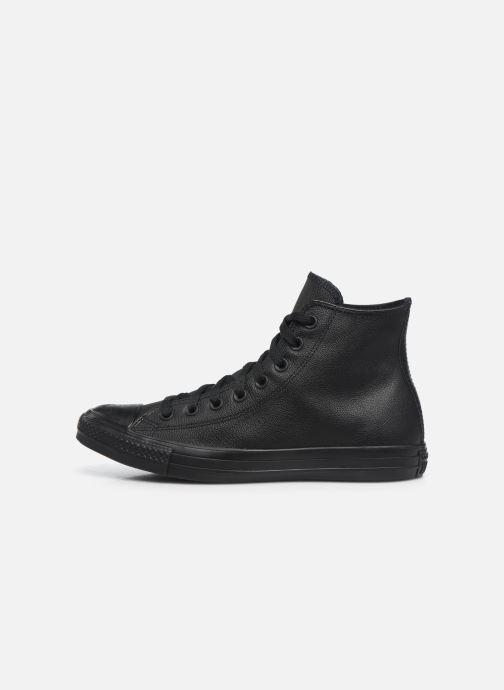 Sneaker Converse Chuck Taylor All Star Mono Leather Hi M schwarz ansicht von vorne