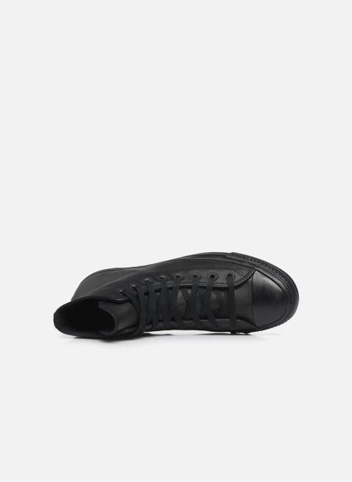 Sneaker Converse Chuck Taylor All Star Mono Leather Hi M schwarz ansicht von links