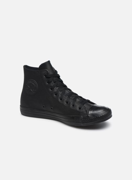 Sneakers Converse Chuck Taylor All Star Mono Leather Hi M Zwart detail