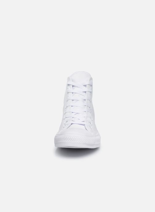 Deportivas Converse Chuck Taylor All Star Mono Leather Hi M Blanco vista del modelo
