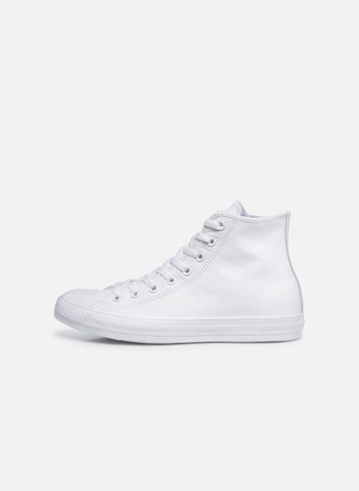 Sneakers Converse Chuck Taylor All Star Mono Leather Hi M Hvid se forfra
