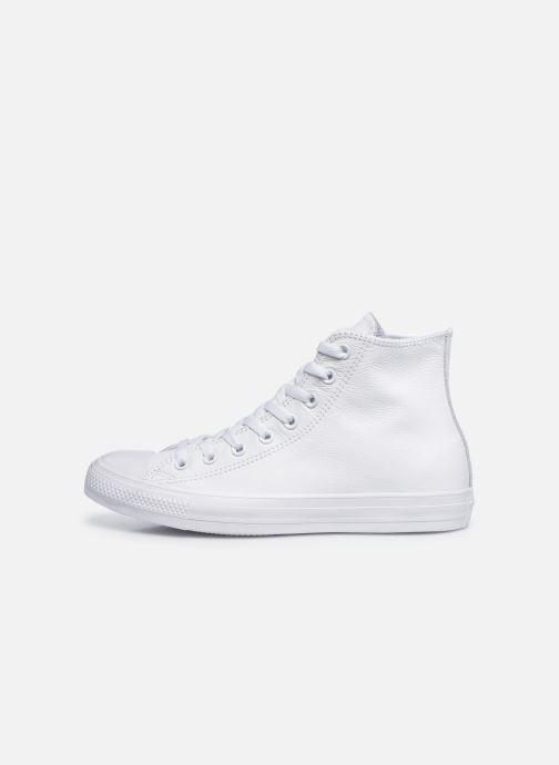 Sneaker Converse Chuck Taylor All Star Mono Leather Hi M weiß ansicht von vorne