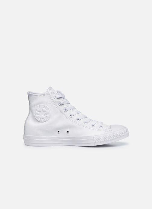 Sneaker Converse Chuck Taylor All Star Mono Leather Hi M weiß ansicht von hinten