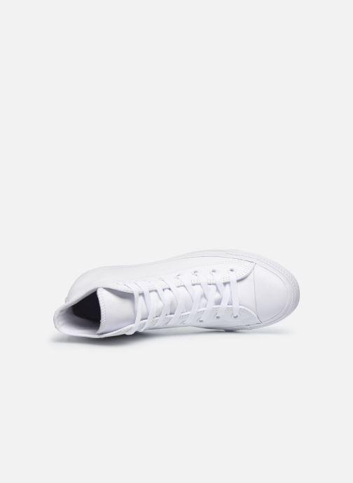 Sneaker Converse Chuck Taylor All Star Mono Leather Hi M weiß ansicht von links