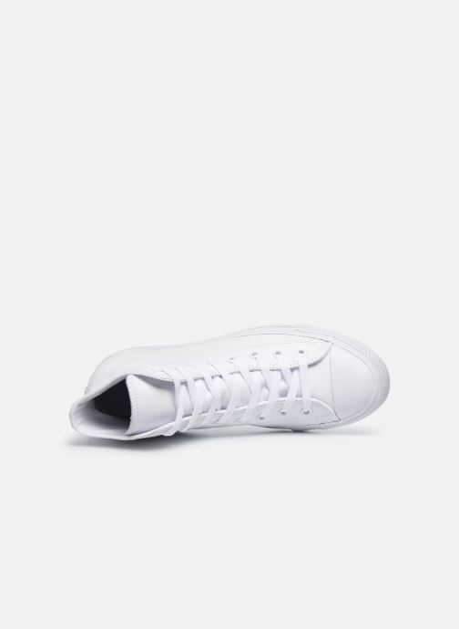 Trainers Converse Chuck Taylor All Star Mono Leather Hi M White view from the left