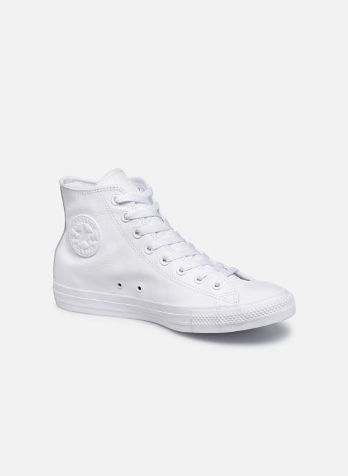 Sneakers Converse Chuck Taylor All Star Mono Leather Hi M Vit detaljerad bild på paret