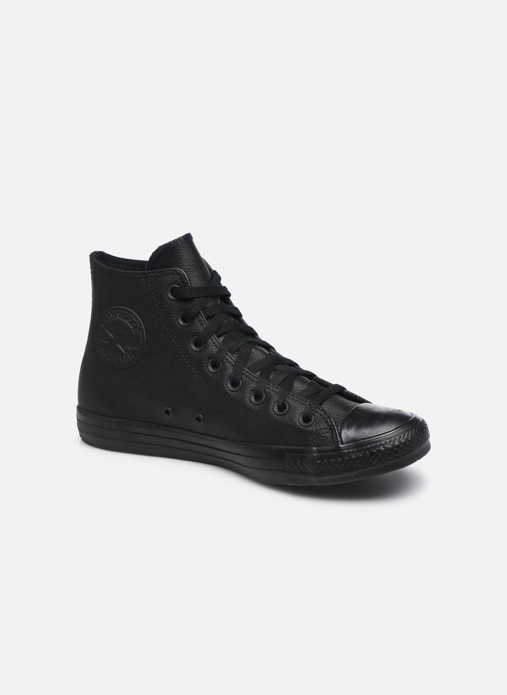 Baskets Converse Chuck Taylor All Star Mono Leather Hi M Noir vue détail/paire
