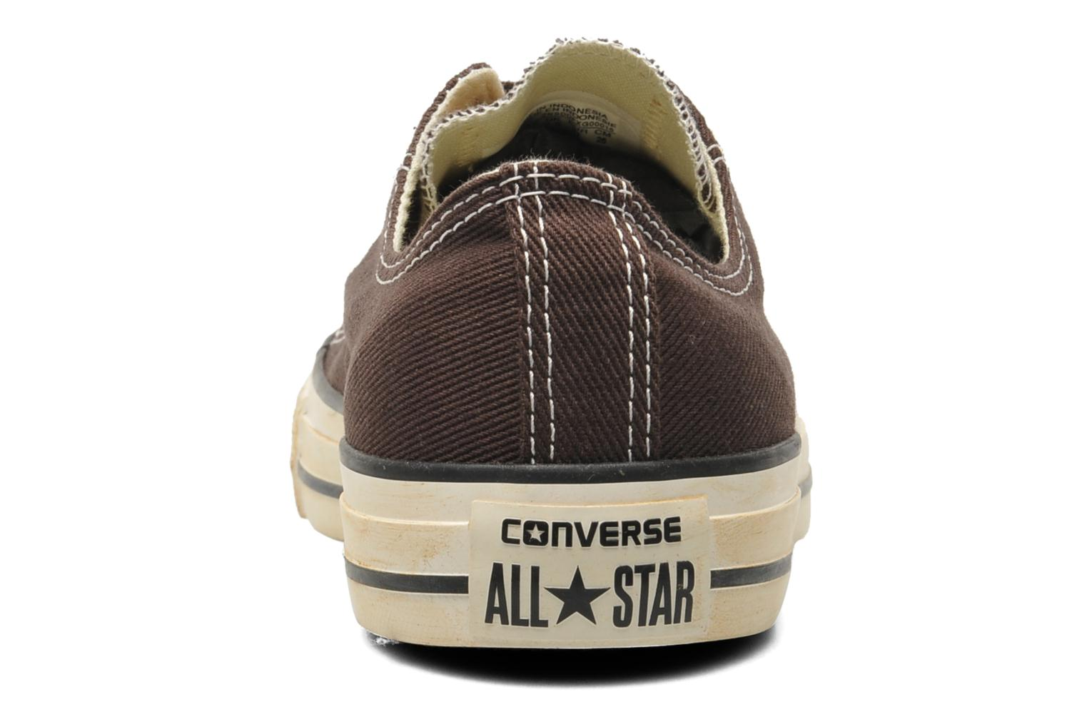 Baskets Converse Chuck Taylor Vintage Washed Twill Ox M Marron vue droite