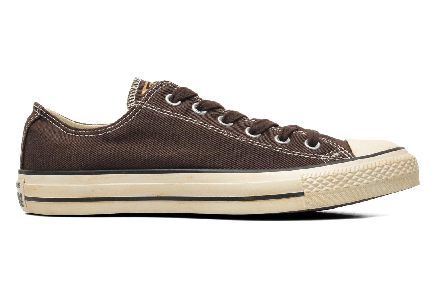Sneakers Converse Chuck Taylor Vintage Washed Twill Ox M Bruin achterkant