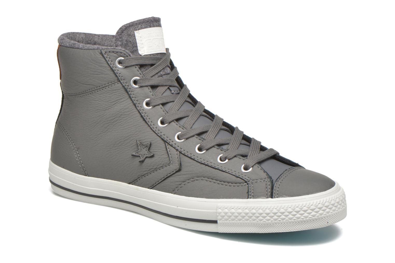 Baskets Converse Star Player Leather Hi M Gris vue détail/paire