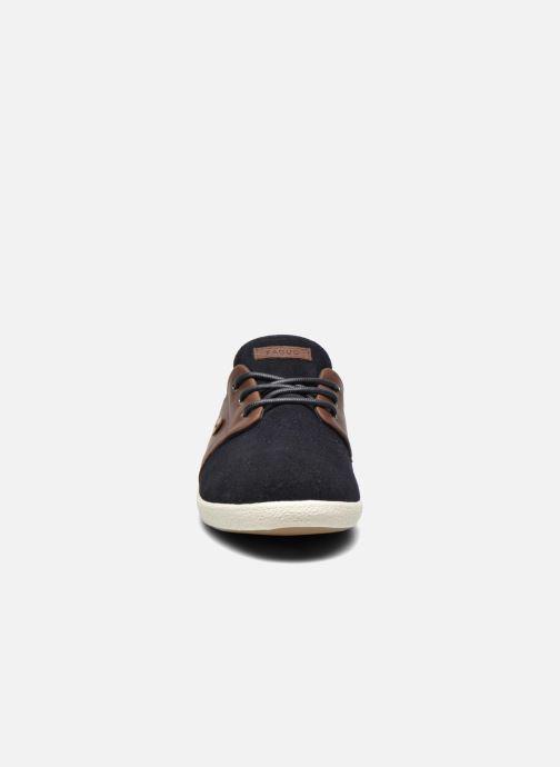 Baskets Faguo Cypress Suede Bleu vue portées chaussures