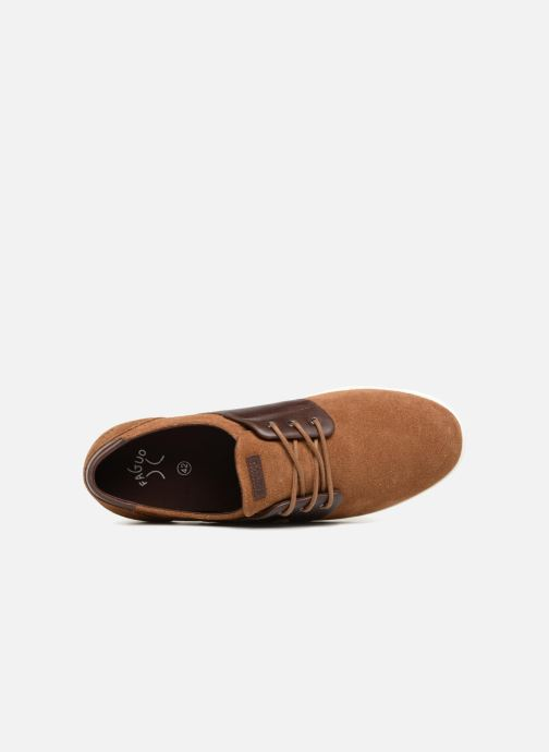 Sneakers Faguo Cypress Suede Marrone immagine sinistra