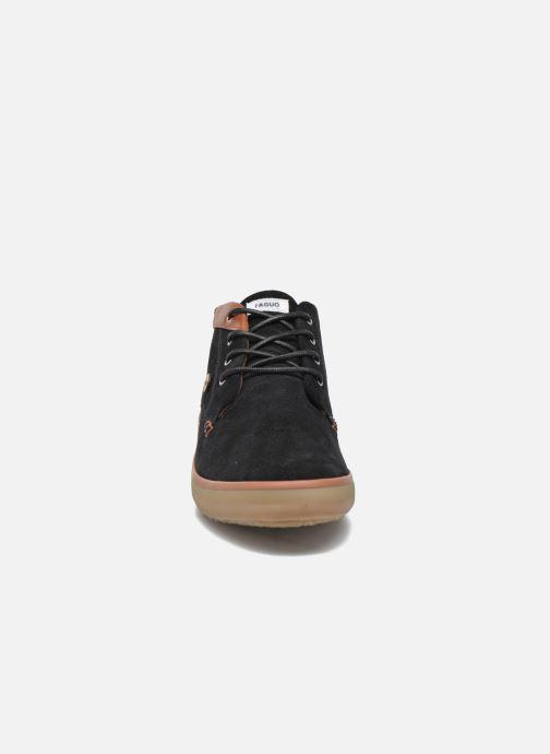 Baskets Faguo Wattle Suede Noir vue portées chaussures