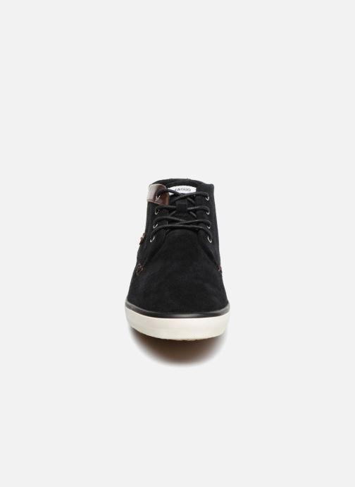 Sneaker Faguo Wattle Suede schwarz schuhe getragen
