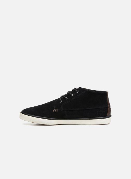 Sneaker Faguo Wattle Suede schwarz ansicht von vorne