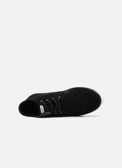 Sneaker Faguo Wattle Suede schwarz ansicht von links
