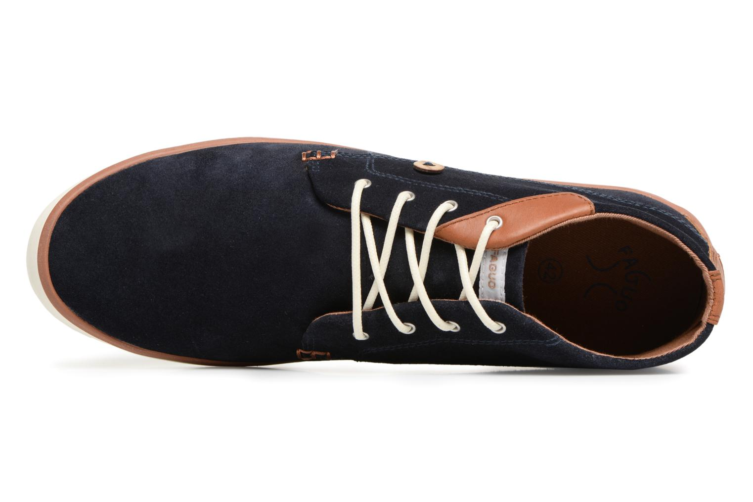 Trainers Faguo Wattle Suede Blue view from the left