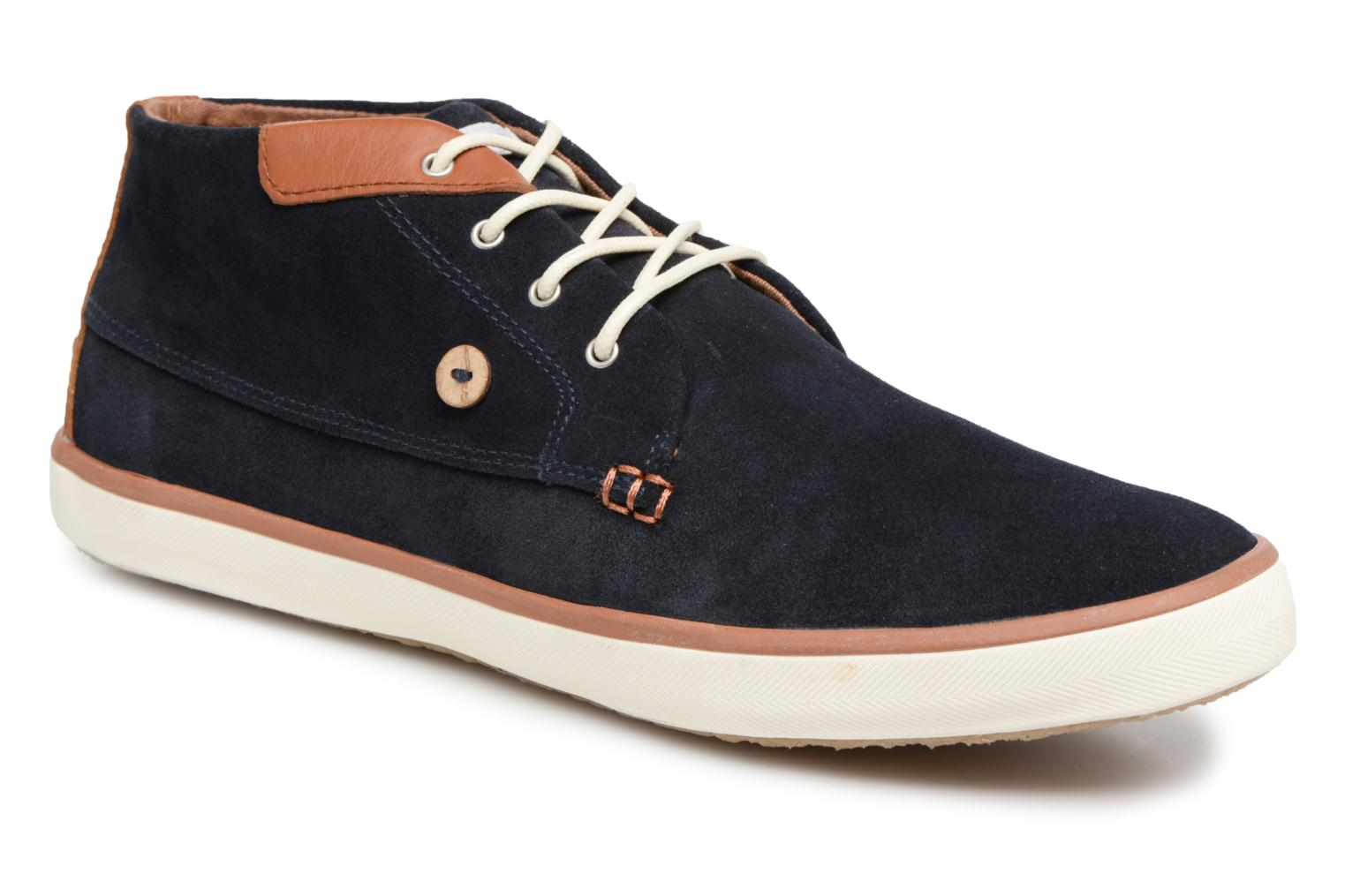 Trainers Faguo Wattle Suede Blue detailed view/ Pair view