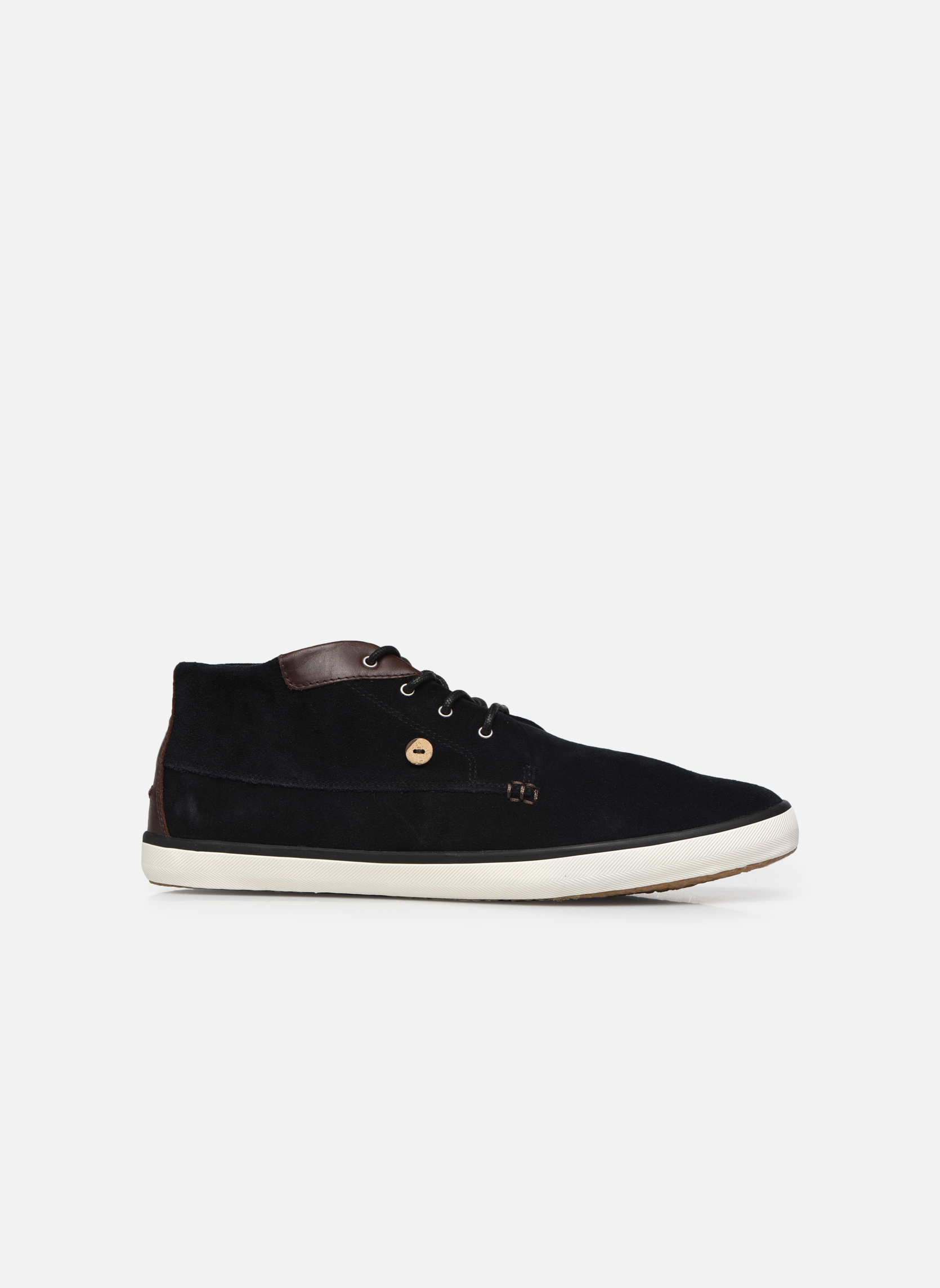Trainers Faguo Wattle Suede Black back view