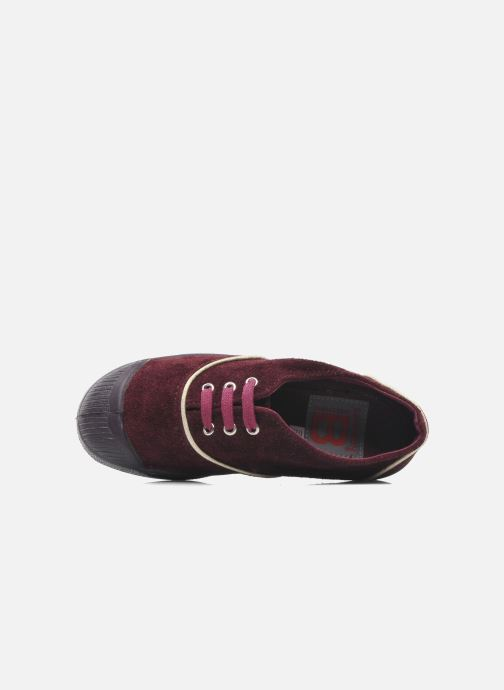 Trainers Bensimon Tennis Suedpiping E Burgundy view from the left