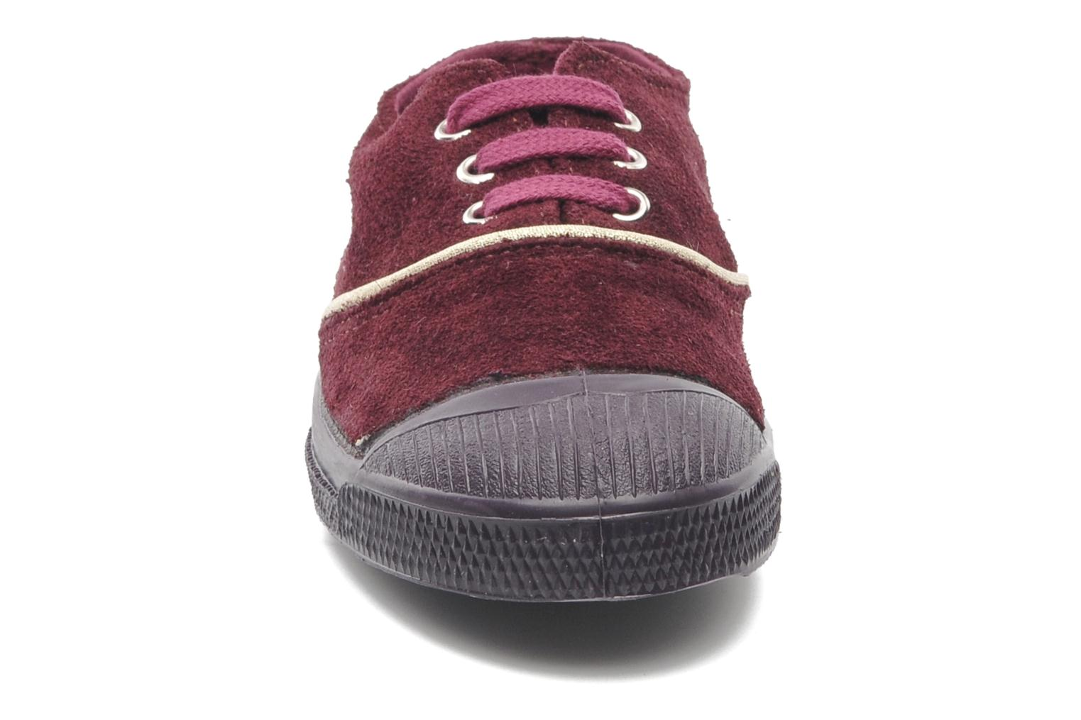 Trainers Bensimon Tennis Suedpiping E Burgundy model view